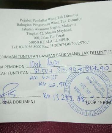 Ini Cara Akak Ni Dapat Duit RM14,000 'Wang Tak Dituntut'. Ramai Masih Belum Tahu Caranya 3