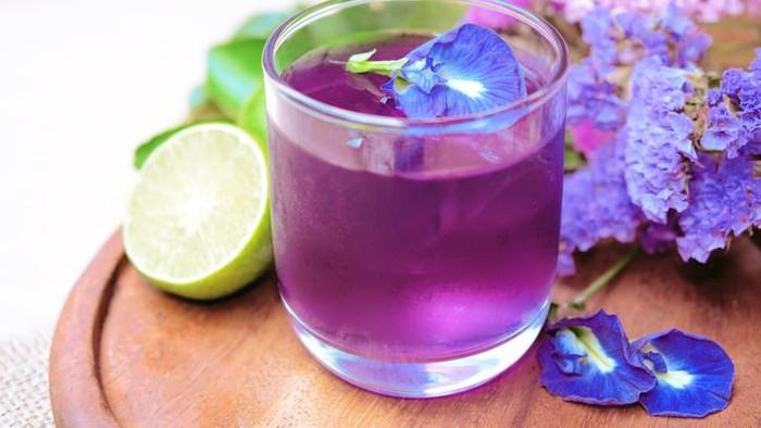 khasiat bunga telang, teh bunga telang