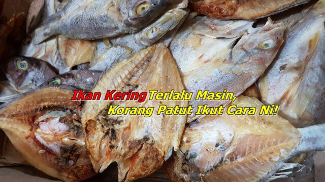 Petua Untuk Kurangkan Masin Ikan Kering Yang Keterlaluan, Barulah Sedap Dimakan!