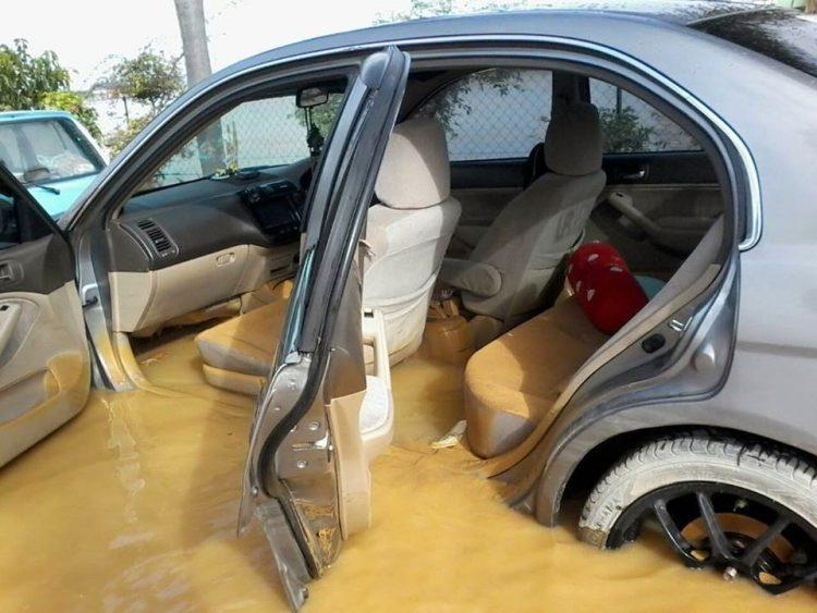 kereta masa banjir, kereta masuk air banjir, kerosakan kereta kerana banjir, repair kereta banjir