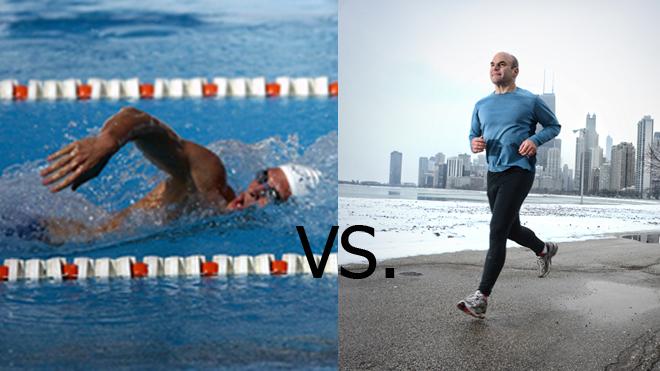 berenang vs berlari, senaman berenang, senaman berlari, latihan berenang, latihan berlari, sukan berlari, sukan berenang