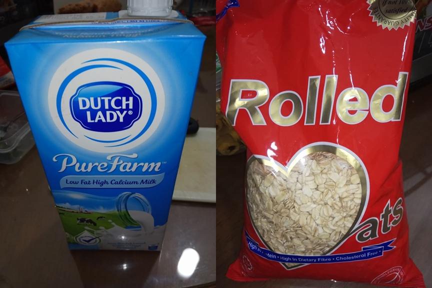 berdiet, minuman diet, minuman oat, minuman midnight oat, cara buat midnight oat, resepi midnight oat