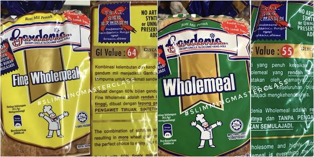 roti diet, kandungan roti diet, roti untuk diet, kandungan Glycemic Indeks dalam roti, Glycemic Indeks,