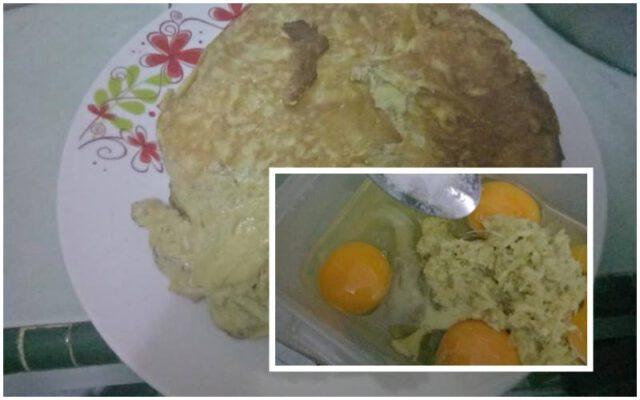 telur dadar halia