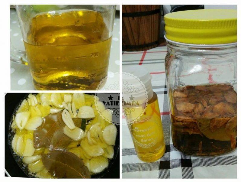 minyak bawang putih, kebaikan minyak bawang putih, manfaat minyak bawang putih, cara buat minyak bawang putih, makan bawang putih, masak minyak bawang putih