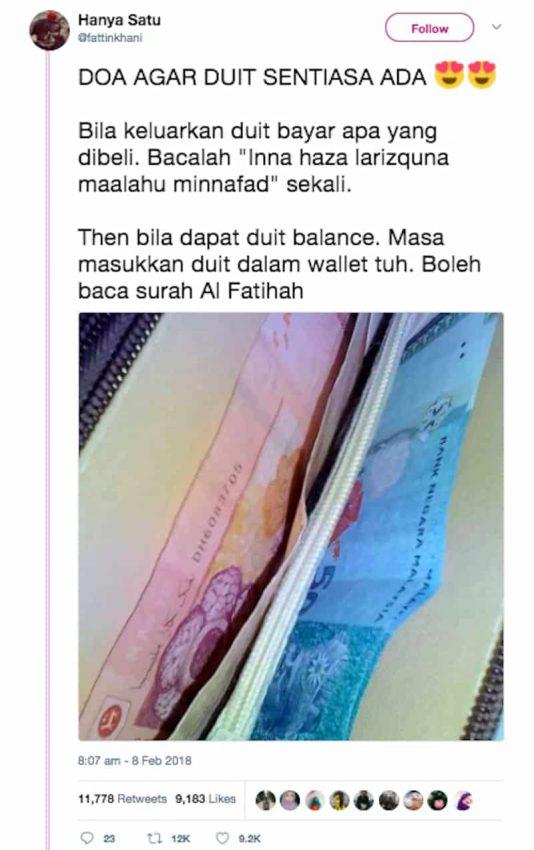 doa ketika belanjakan duit, doa sewaktu keluarkan duit, doa keluarkan wang, doa semasa belanjakan wang, amalan rezeki berkat