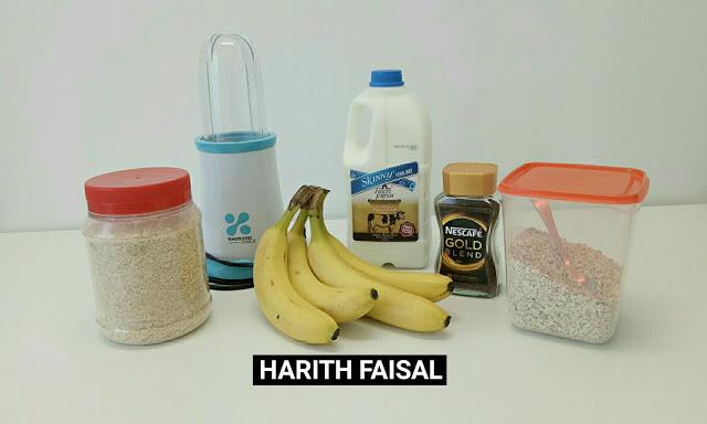 diet pisang, diet banana smoothies, sahur banana smoothies, menu sahur mudah, menu bersahur untuk diet