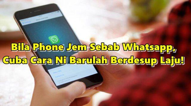 Tak Perlu Left Group WhatsApp Bila Phone Jem, Cuba Cara Ni Barulah Berdesup Laju