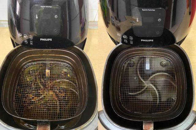 Cuci Air Fryer Guna Cuka Je. Tak Perlu Sental, Segala Kerak Hilang & Nampak Berkilat, Cukup Mudah!