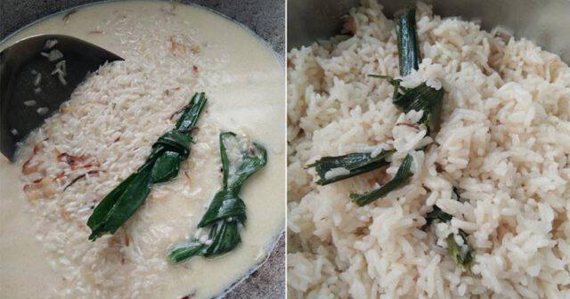 Rahsia Masak Nasi Lemak Sedap Bertambah-Tambah! Ada Bahan Kena Tumis Dulu!