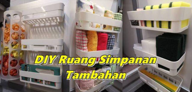Lihat Hasil DIY Ruang Simpan Tambahan Pada Pintu Kabinet Dapur, Guna Barang RM2.10 Jer!