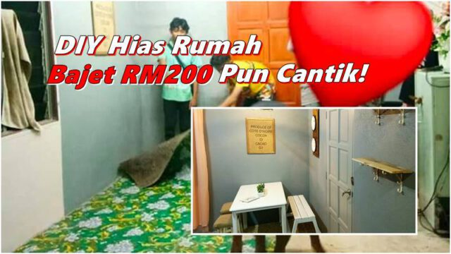 Wanita Bantu Hias Rumah Jiran Kurang Berkemampuan, Bajet Tak Sampai RM200 Tapi Cantik!