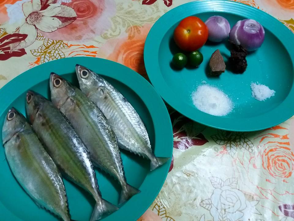 Ikan kembung rebus air asam
