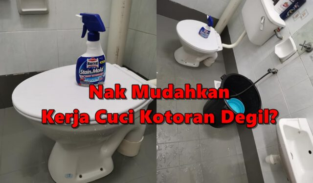 Nak Mudahkan Kerja Cuci Kotoran Degil? Cuma Guna Spray Ni Tunggu 10 Minit & Siram Air!