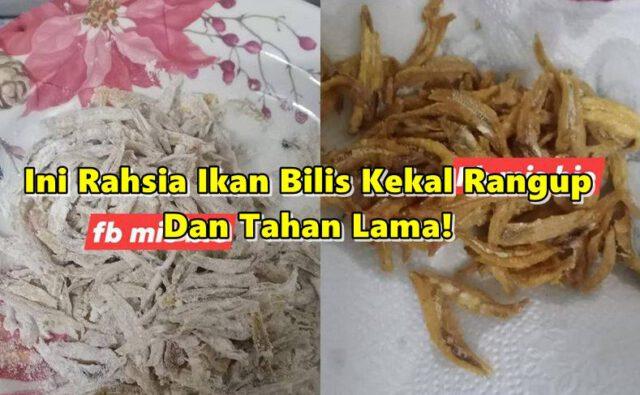 Selain Rendam Guna Cuka, Ini Rahsia Ikan Bilis Kekal Rangup!